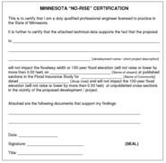 No Rise Certificate image