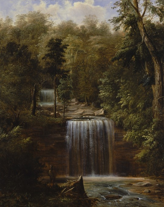 Painting of Minneopa Falls