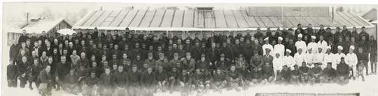 Old group photo of a Conservation Corps. company