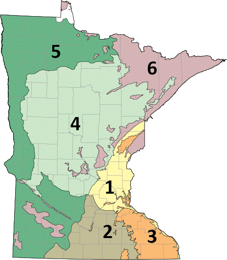 Map of MN's groundwater provinces