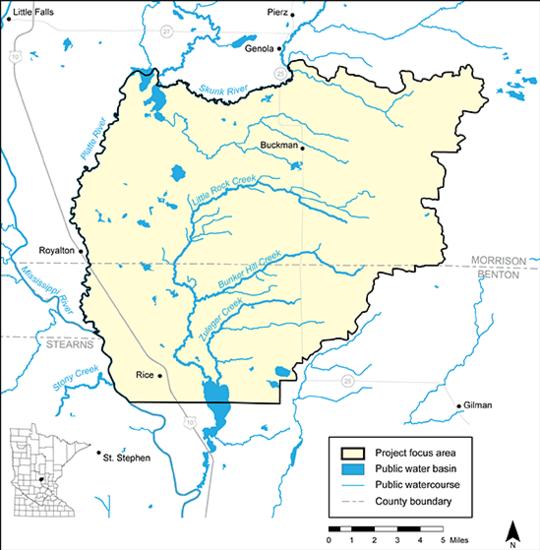 Map of Little Rock Creek Area