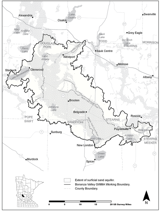 Map of Bonanza Valley Groundwater Management Area
