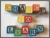 "Blocks spelling ""Chance To Learn"""