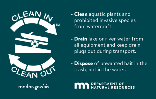 Clean in, clean out to stop the spread of aquatic invasive species
