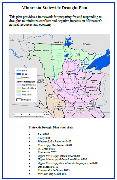 Cover of 2009 Minnesota Drought Plan