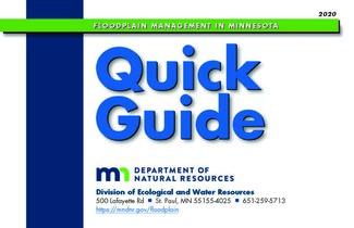 Cover of 2020 MN Floodplain Management Quick Guide