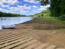 St. Croix River boat landing with low water