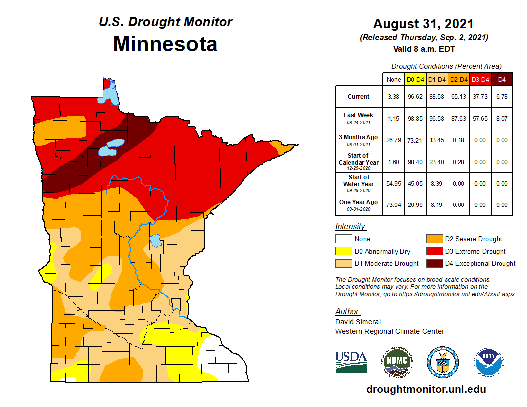 Drought map Aug 31