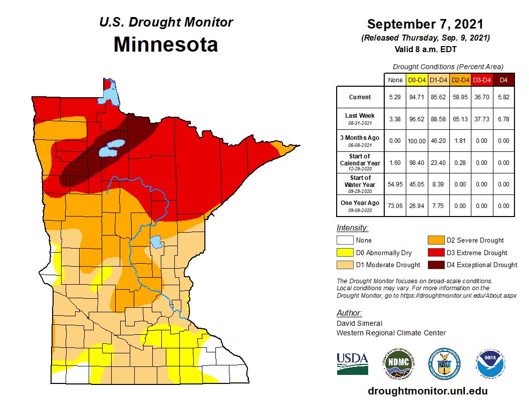 Drought map Sept 7