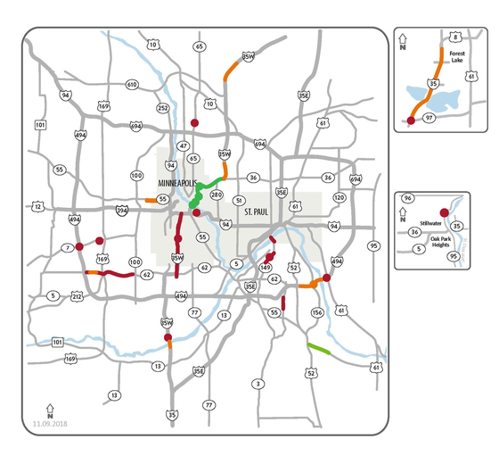 MnDOT metro weekend traffic impacts