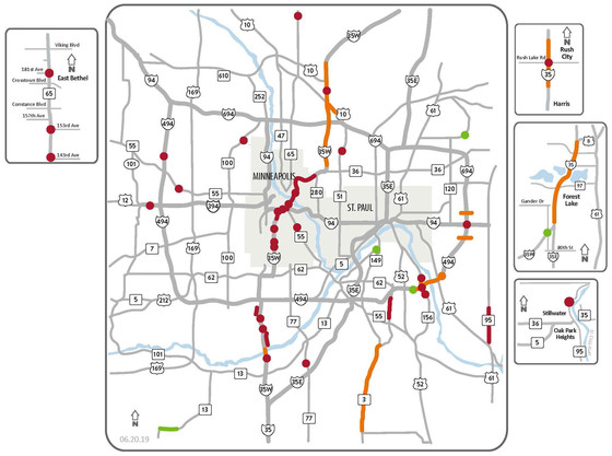 Weekend Traffic Impacts for June 21-23