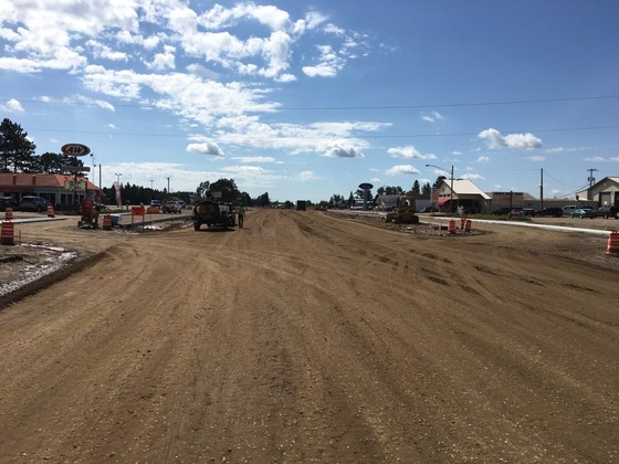 Crews are currently grading and pouring curb and gutter. They will begin paving on September 16, weather permitting.