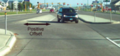 Positive offset left-turn lane