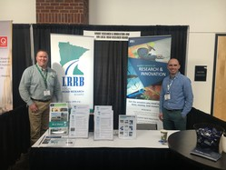 John and Thomas at the LRRB booth at the Minnesota Transportation Conference