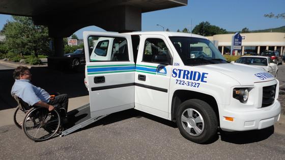 Man Utilizing Public Transit in Rural Minnesota