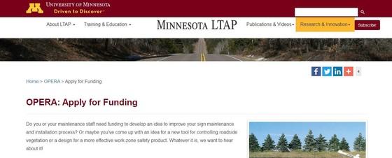Minnesota LTAP Apply for Funding