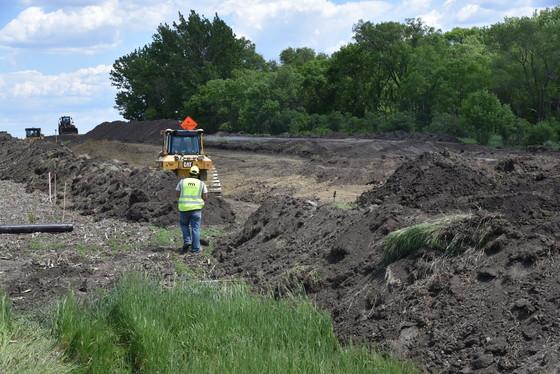 MnDOT inspector observes shoulder widening on Highway 12