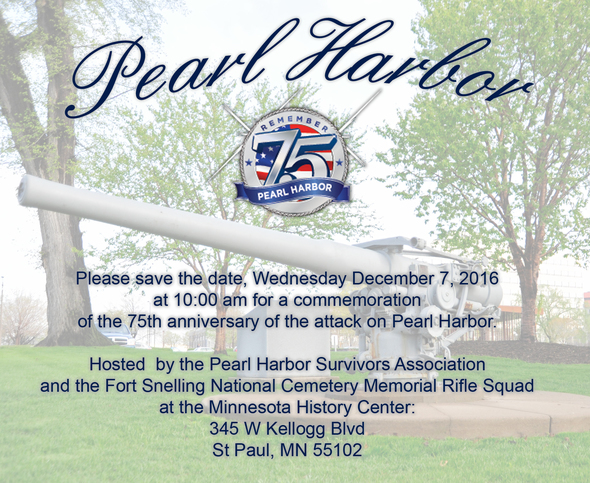 75th Anniversary of Pearl Harbor Flyer