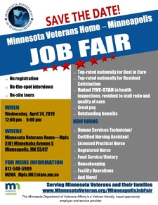 Minneapolis Job Fair Flyer