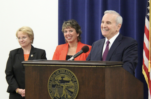 Governor Mark Dayton and Supreme Court Justice Anne McKeig