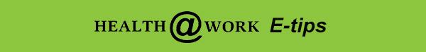 Health@Work Banner