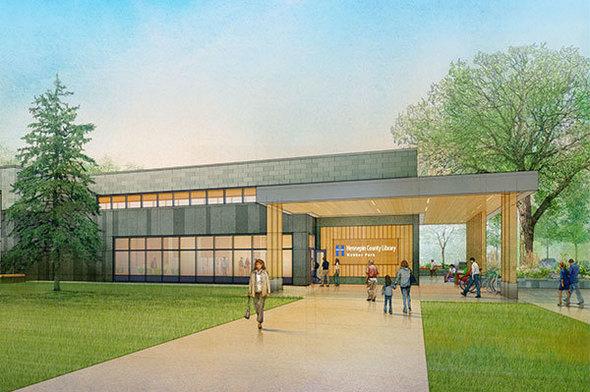 Webber Park Library Rendering 2