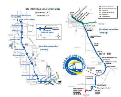 Blue Line LRT map