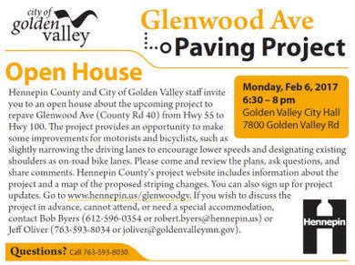 GV flyer for paving project/Glenwood