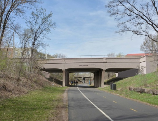 Rendering of new bridge at Cedar Avenue greenway crossing