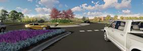 Image of Douglas Drive roundabout