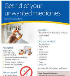 Medicine drop locations flyer