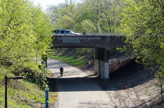 The Portland and Cedar Avenue bridges over the greenway will close for reconstruction starting Monday, May 8.