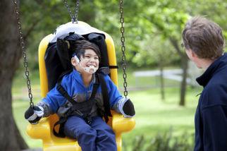 CDC image child on swing