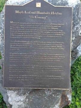Hennepin Community Works Humboldt Greenway plaque