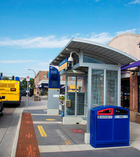 metro transit shelter for BRT