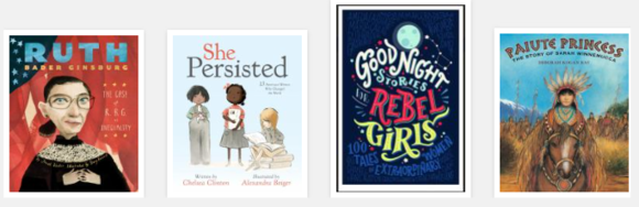 Women's history book covers