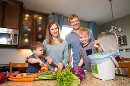 family recycling organics