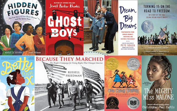 Black history book covers