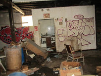 Inside building at Universal Plating site