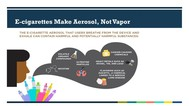 Infographic that shows a person blowing out a cloud of vapor containing chemicals and nicotine