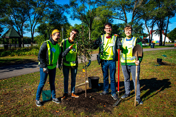 Champlin tree planting