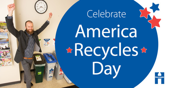 Celebrate America Recycles Day graphic