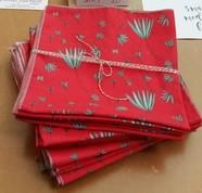 Christmas themed cloth napkins