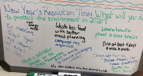 Environment and energy staff resolutions for 2020