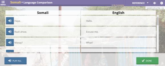 transparent languages online screenshot