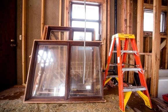 salvaged window