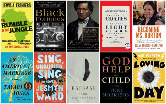 African American fiction and nonfiction book covers
