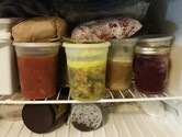 Freezer full of preserved food