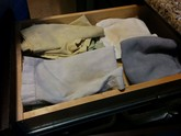 Reusable napkins in drawer