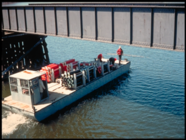 Historic buoy installation photo Lake Minnetonka